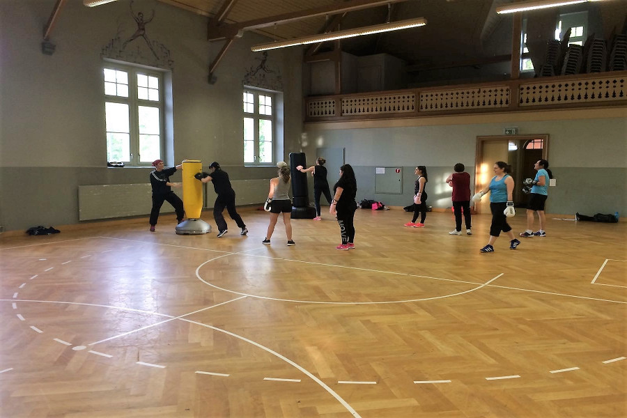 Frauen Fitness Boxtraining